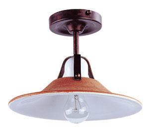Lampenlux Deckenlampe Deckenleuchte Anticos Keramikschirm braun E27 60W 230V