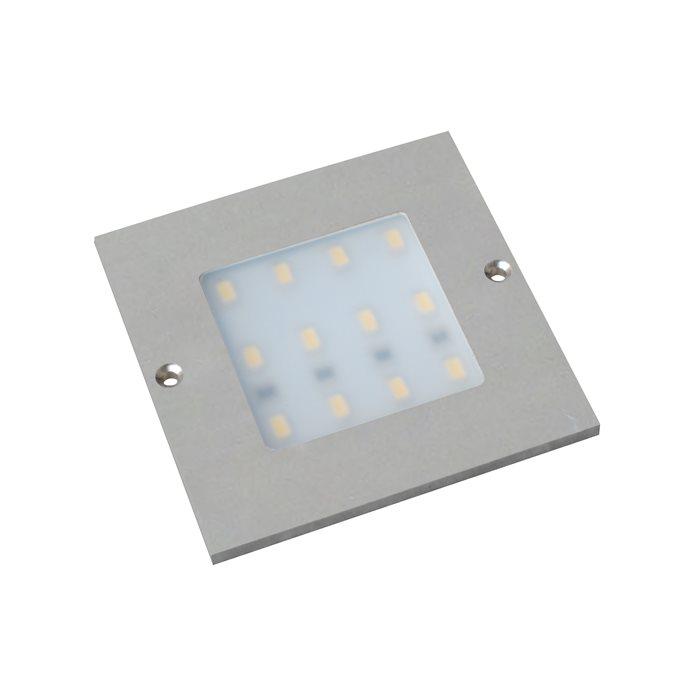 Lampenlux LED 5er SET Unterbauleuchte Midge Küchenleuchte Küchenlampe Aufbauleuchte Aufbaulampe sehr flach Aluminium 230V 5x5W Silber Länge 8cm 2-flammig 230V mit externen Trafo