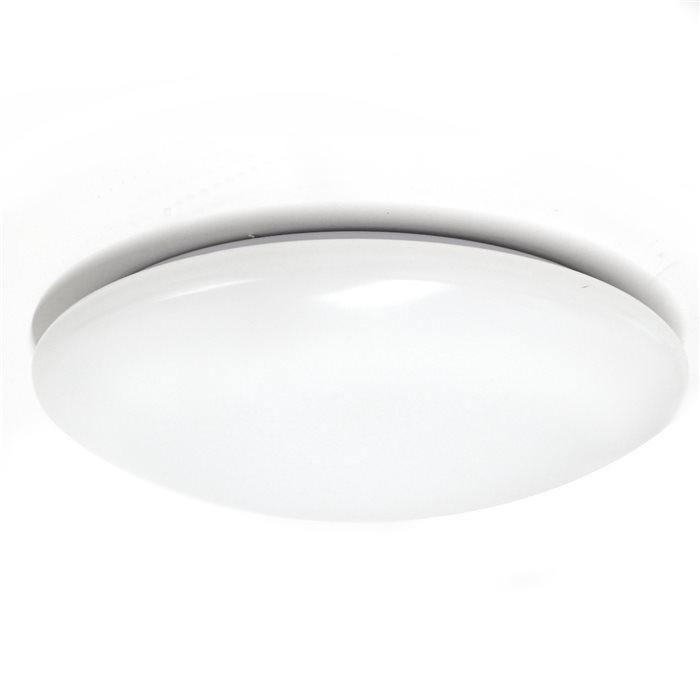 Lampenlux Deckenlampe Deckenleuchte Alvaro Glasschirm Opal Abdeckung Ø 30cm mit EVG Glas Schirm