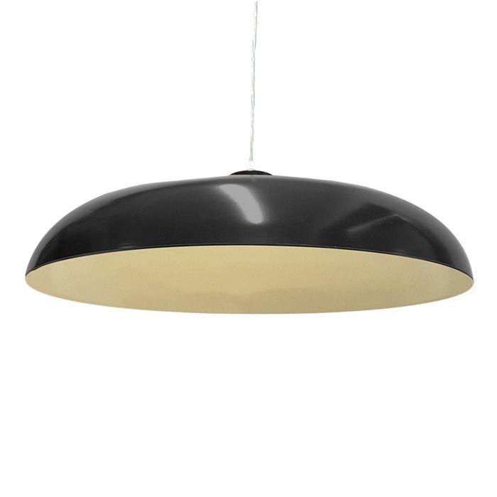 Lampenlux Pendellampe Pendelleuchte Doni Metallschirm E27 schwarz / weiß