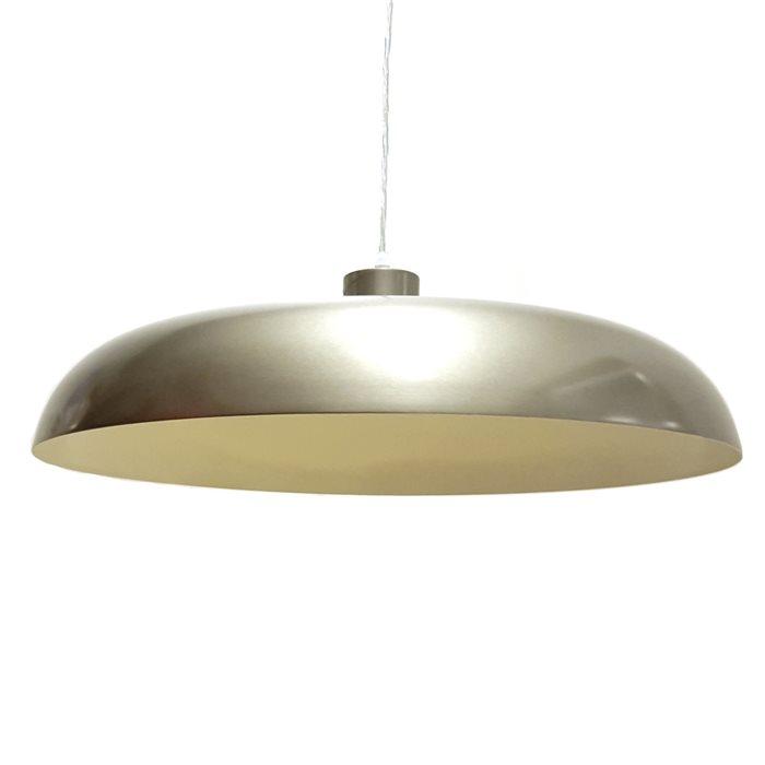 Lampenlux Pendellampe Pendelleuchte Doni Metallschirm E27 Graphit / weiß