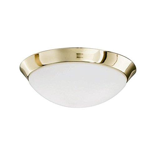 Lampenlux LED Aussenleuchte Dodo IP44 230V Deckenlampe Badlampe Rund Glas Fassung E27 Ø32cm Terasse Gold Badezimmer Flur Deckenleuchte