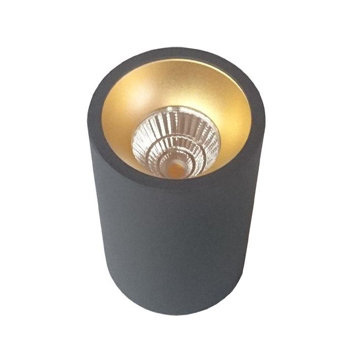 Lampenlux LED Decken Leuchte Lampe Justus Schwarz Esszimmer Küche Bad 12W Ø9cm 1100Lm