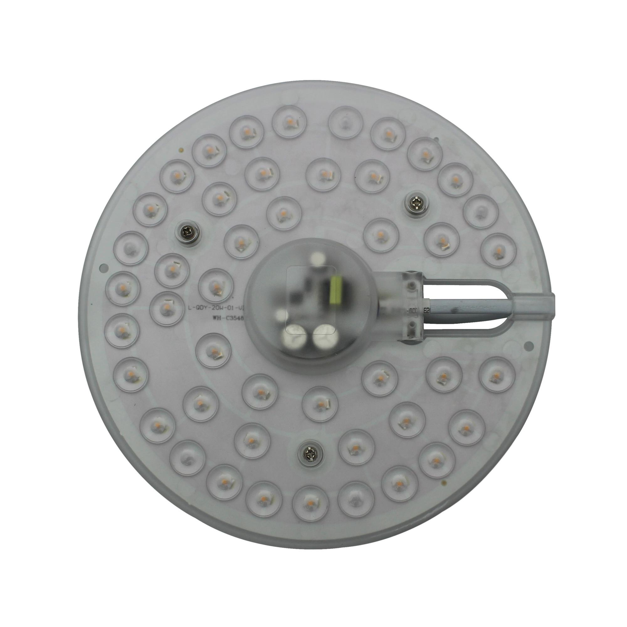 Lampenlux LED Platine Rund Umrüstmodul 230 V 1440 Lumen warmweiß Ø 18 cm Magnethalterung 3 cm flach
