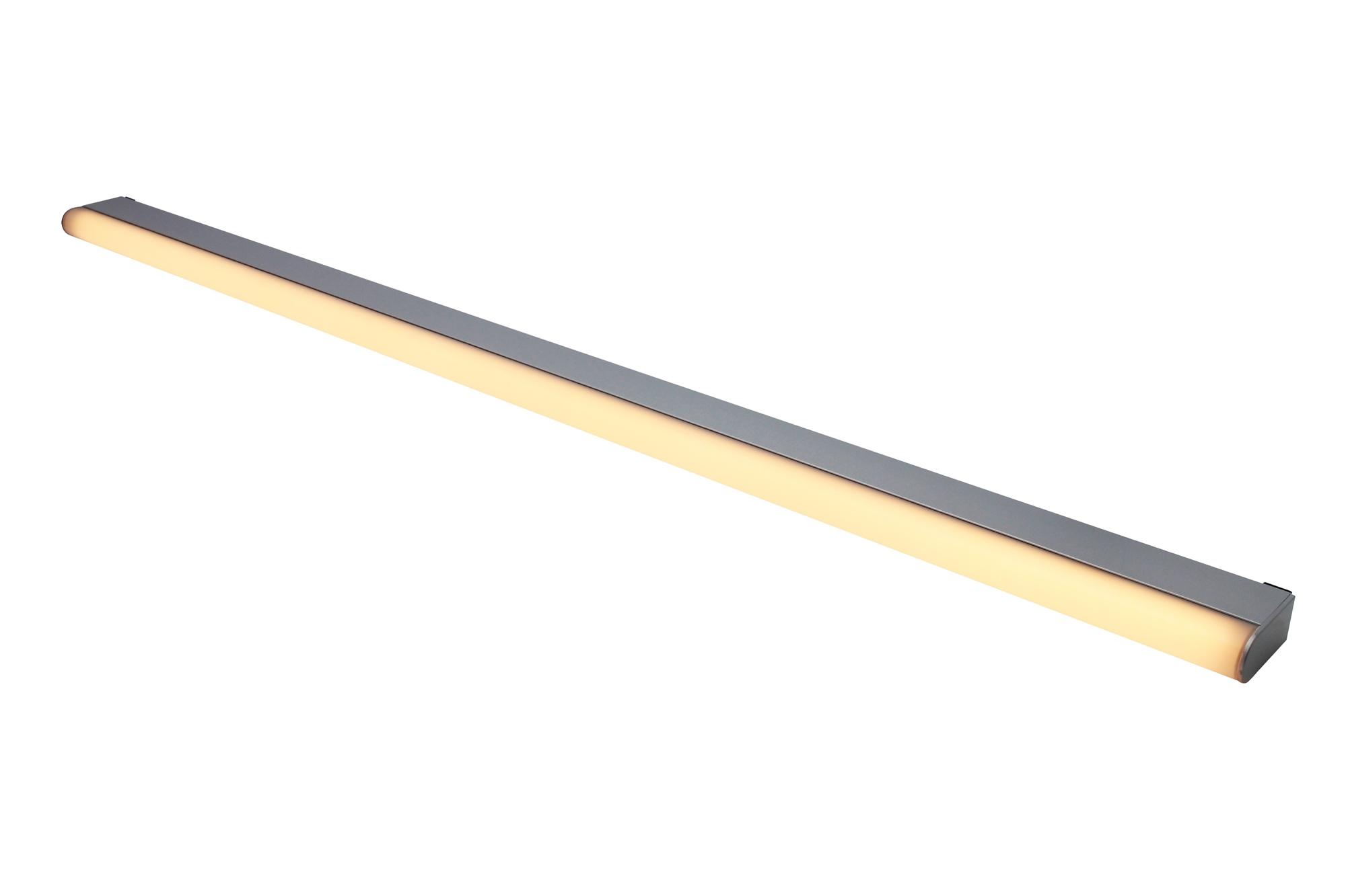 Lampenlux LED Wandlampe Wandleuchte Aras Badlicht grau 10/14/18W 60/90/120cm inkl. Trafo