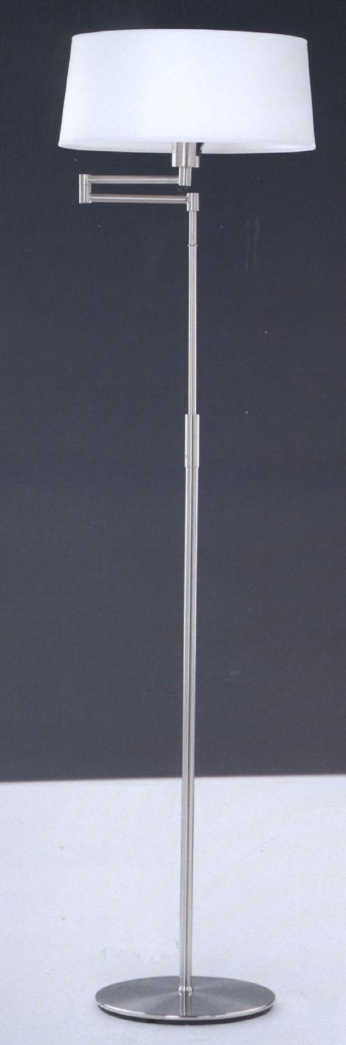 Lampenlux Stanela Stehlampe Stehleuchte Flurleuchte schwenkbar Weiß Nickel Deko Ø 38