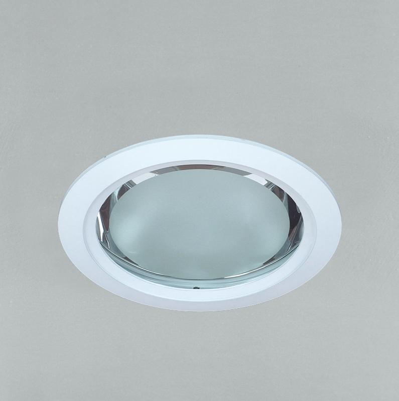 Lampenlux Einbaustrahler Downlight Karlus rund weiß 2x 13W PLC Einbaulampe Einbauspot Spot Strahler Punktstrahler Aluminium