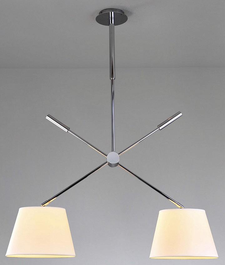 Lampenlux Deckenlampe Deckenleuchte Lexuana 2x E27 60W mit Stoffschirm Ø 35 cm