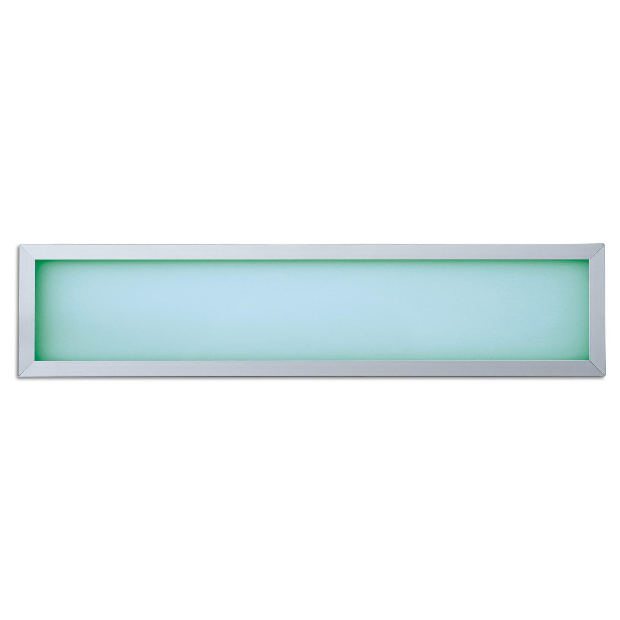Lampenlux LED RGB Panelo Einbaupanel Haiko silber 9W 60x15cm