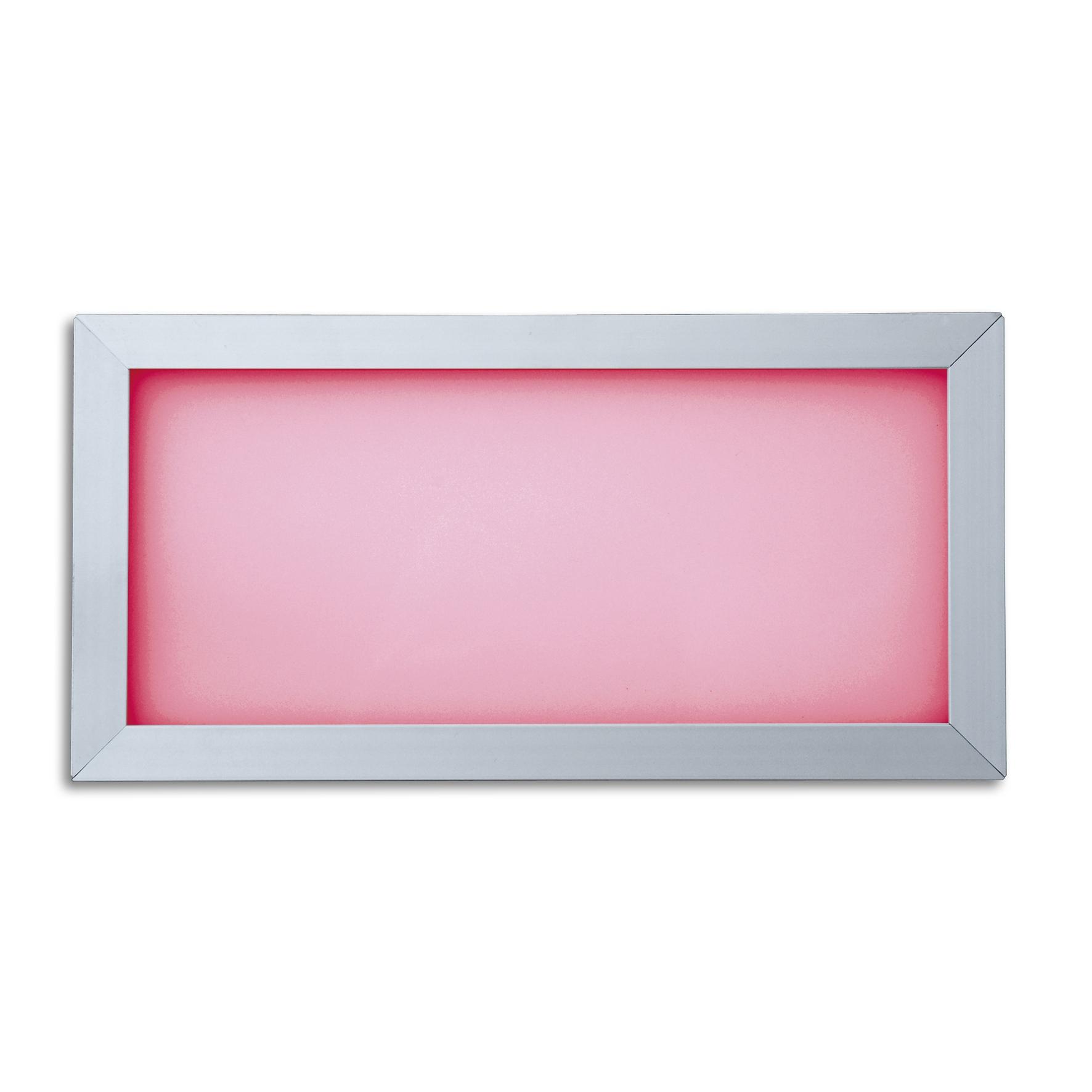 Lampenlux LED RGB Panelo Einbaupanel Haiko silber 18W 30x15cm