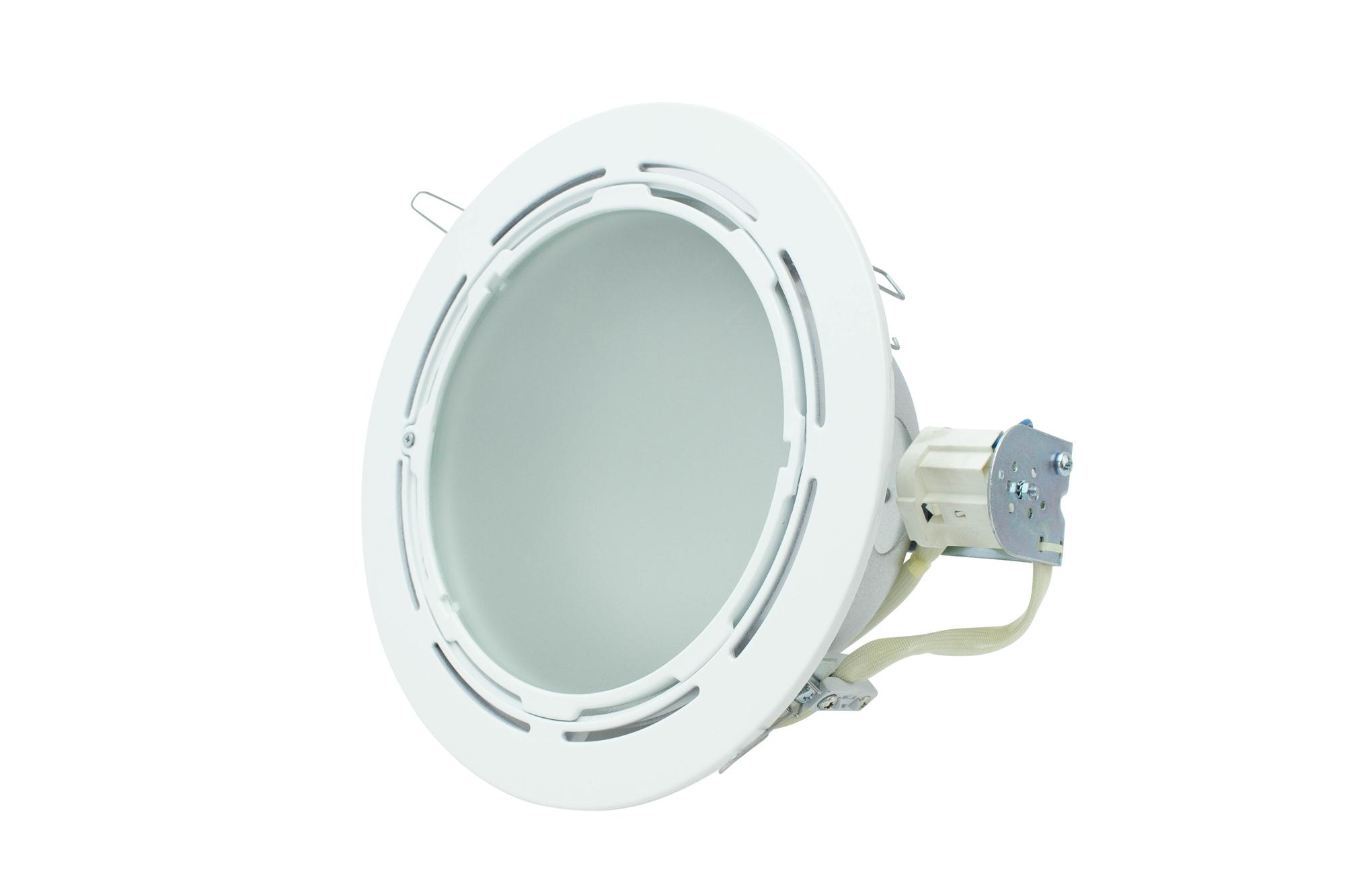 Lampenlux Einbaustrahler Spot Wallacei weiß 26W PLC Ø23.0cm rostfrei Einbauleuchte Aluminium Downlight Down Deckeneinbaustrahler
