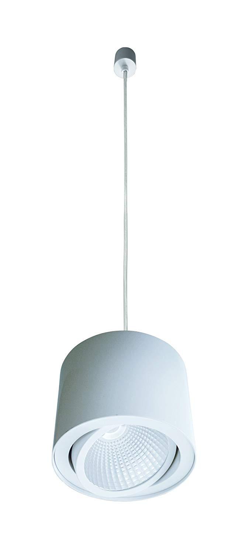 Lampenlux LED Pendellampe Trigger weiß schwenkbar Ø16.6cm warmweiß Hängeleuchte