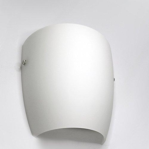 Lampenlux Wandlampe Wandleuchte Ajbo Up Down Stimmungslicht Glas Opal Weiß Badleuchte