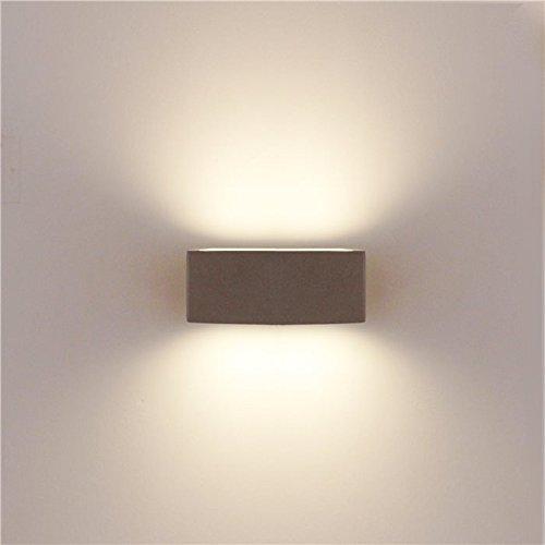 Lampenlux Design Außenleuchte Joshie Wandlampe Wandleuchte Up Down Alu Silber IP54