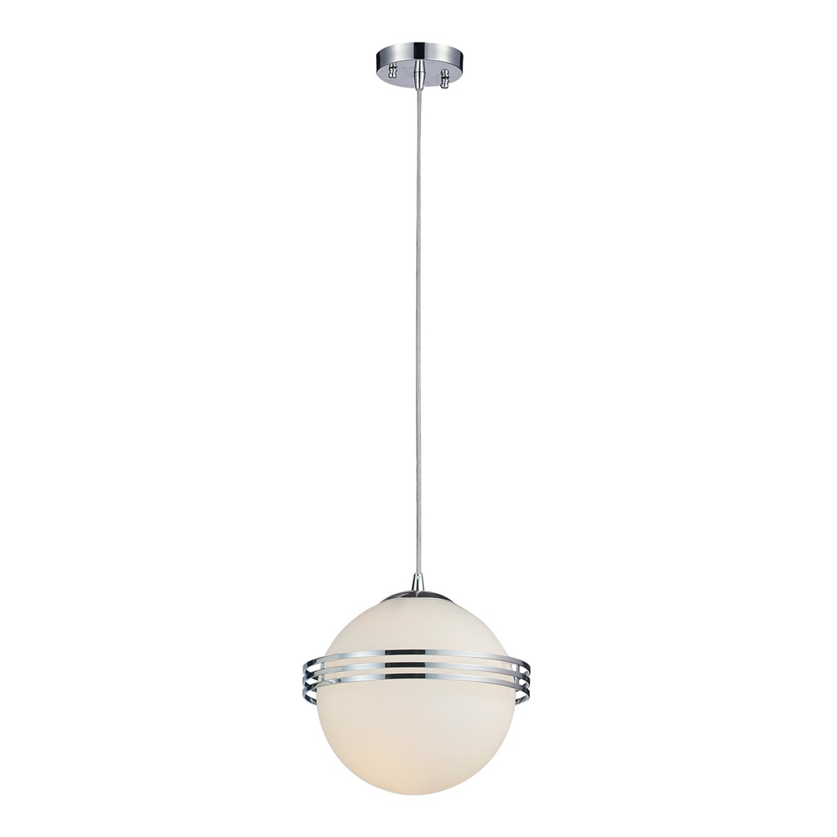 Lampenlux LED Pendellampe Pendelleuchte Bieno Effektlicht Glasschirm Opal Weiß Fassung E27