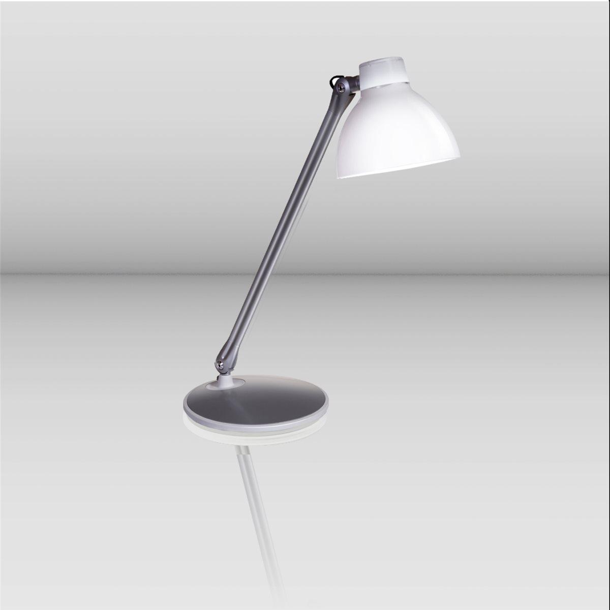 Lampenlux LED Tischlampe Tischleuchte Pany schwenkbar mit Schalter weiss E27 4W