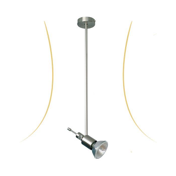 Lampenlux LED Aufbaustrahler Iduna dreh- und schwenkbar Nickel 40.0cm rostfrei