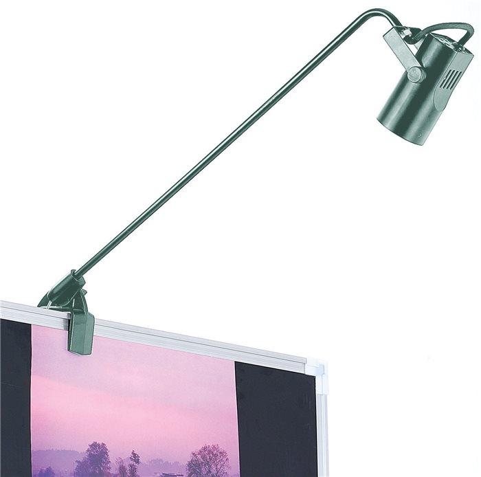 Lampenlux LED-Displaystrahler Bildleuchte Tommy silber 45.0cm mit Schraublkemme MR16