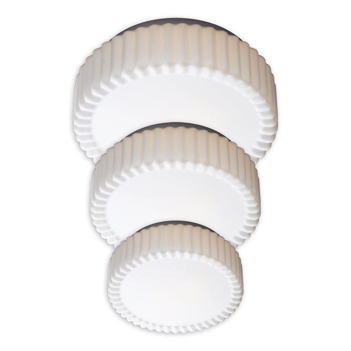 Lampenlux LED Aussenleuchte Delta IP44 230V E27 Ø23cm - Ø38cm Deckenlampe Badlampe Rund Glas Weiß Terasse Deckenleuchte