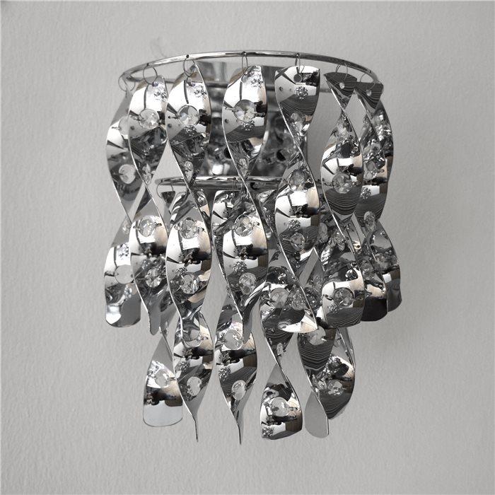 Lampenlux Designer Wandlampe Leuchte Zanki Kristall hochwertig modern Aluminium inkl. LM