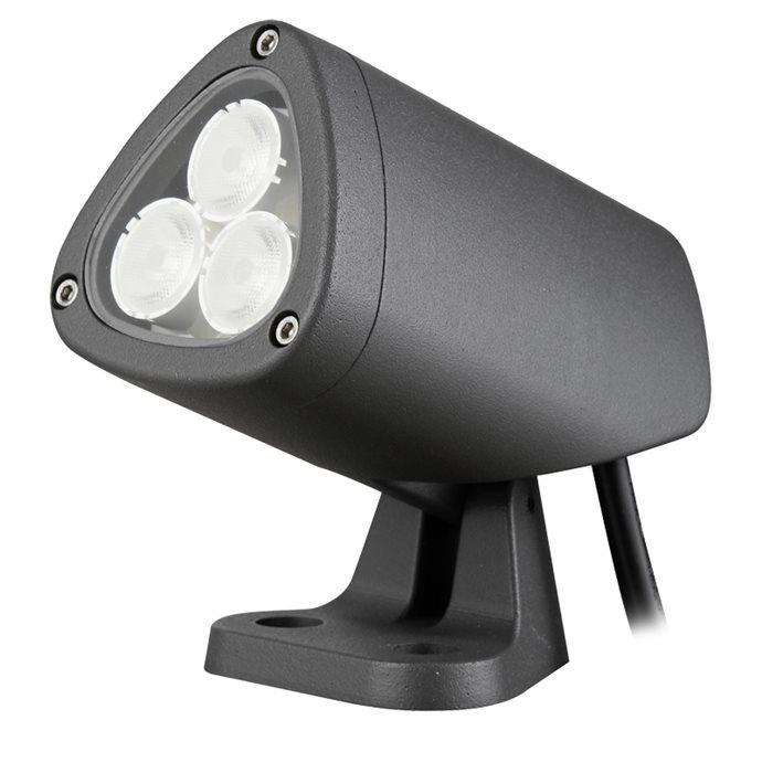 Lampenlux LED Aussenleuchte Finn Aufbaustrahler Schwenkbar Aussenstrahler Schwarz IP65 Alu
