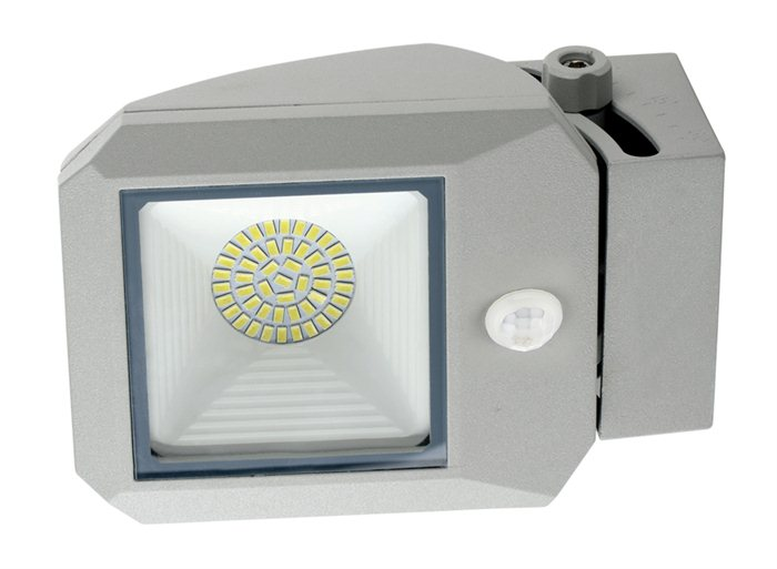 Lampenlux LED Aussenleuchte Apoll Grau 17W Gartenlampe Wegeleuchte IP65 Bewegungssensor Spot Strahler Aufbauspot