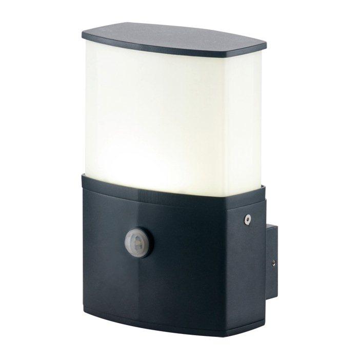 LED Außen Lampe Leuchte Wand Cindy Licht Garten mit Sensor Schwarz Schwenkbar