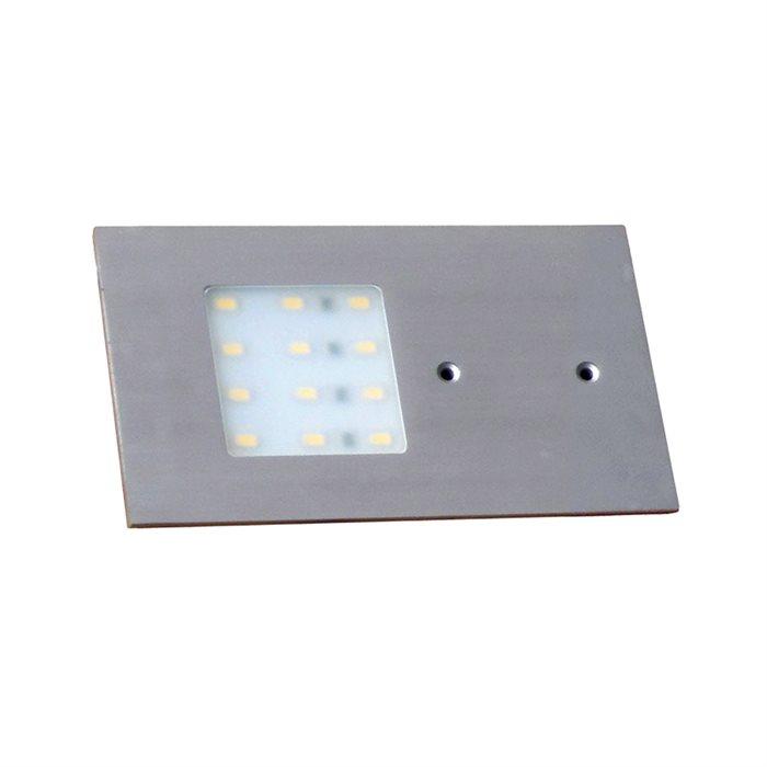 Lampenlux LED Unterbauleuchte Midge Küchenleuchte Küchenlampe Aufbauleuchte Aufbaulampe sehr flach Aluminium 230V 5W Silber Länge 19cm 12V