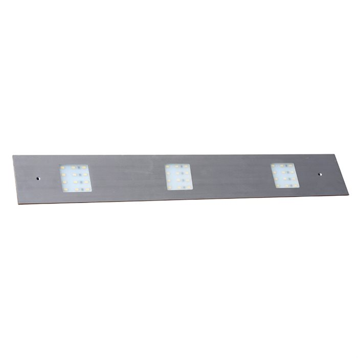 Lampenlux LED Unterbauleuchte Midge Küchenleuchte Küchenlampe Aufbauleuchte Aufbaulampe sehr flach Aluminium 230V 15W Silber Länge 86cm 3-flammig 12V
