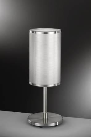 Lampenlux Tischeuchte Nachttischlampe Gitas nickel Metallschirm E14 Leseleuchte Leselampe
