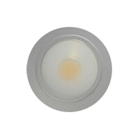 Lampenlux LED-Einbaustrahler Spot Ritzo rund/eckig Silber/Chrom 12V warmweiß rostfrei