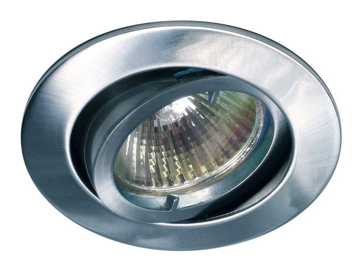 Lampenlux LED-Einbaustrahler Spot Samila rund schwenkbar chrom rostfrei 8.3cm GU10 230VEinbauleuchte Einbaulampe Einbauspot Spot Strahler Punktstrahler Aluminium Downlight Down Deckeneinbaustrahler Deckeneinbauleuchte