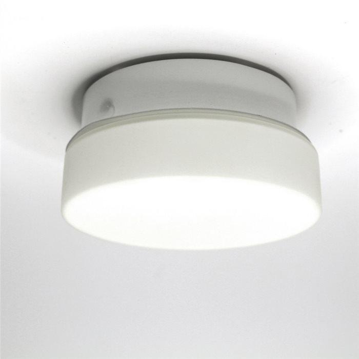Lampenlux LED Deckenlampe Deckenleuchte Dan Glasschirm weiss G9 3W Ø:11cm Glas Schirm