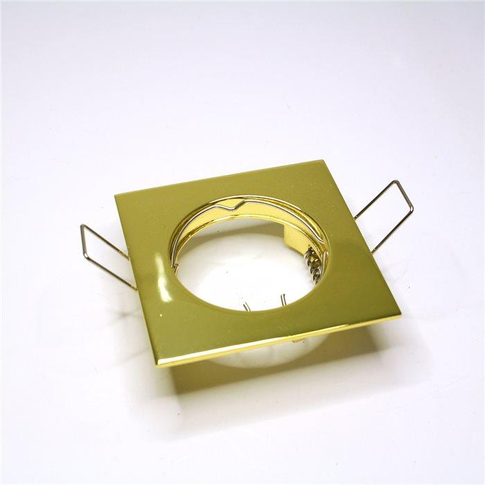 Lampenlux LED-Einbaustrahler Spot Rodeo eckig gold 12V 7.5x7.5cm rostfrei inkl LEDEinbauleuchte Einbaulampe Einbauspot Spot Strahler Punktstrahler Aluminium Downlight Down Deckeneinbaustrahler Deckeneinbauleuchte