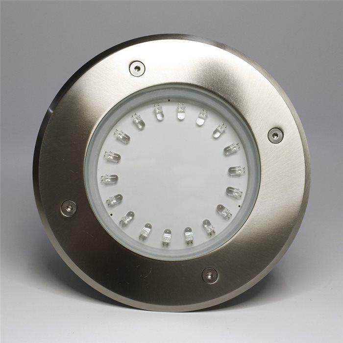 Lampenlux LED Bodeneinbaustrahler Amar IP67 230V Außenleuchte Rund Kaltweiß Edelstahl