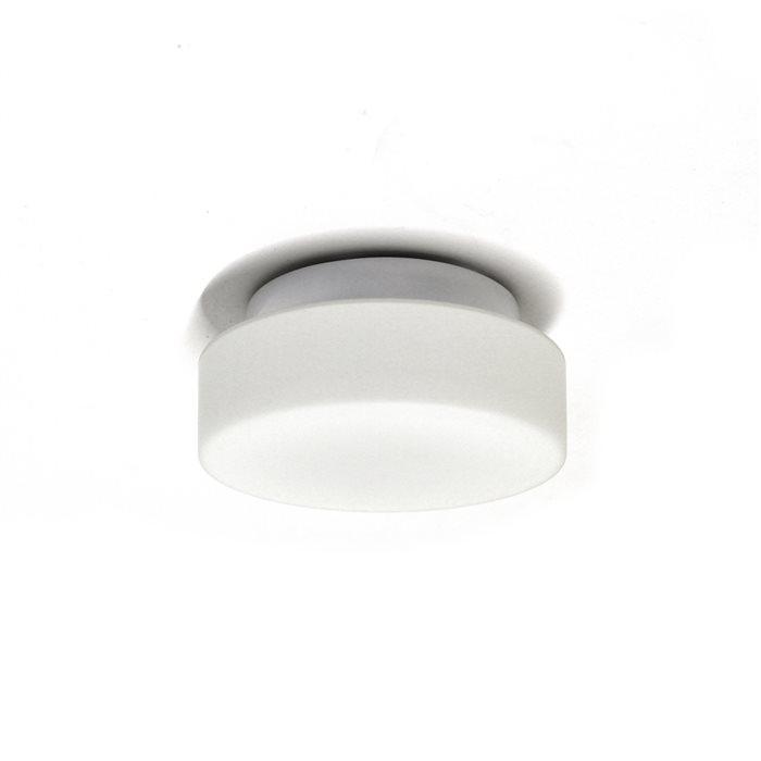 Lampenlux LED Deckenlampe Deckenleuchte Dan Glasschirm weiss 3W G9 Ø:16cm Glas Schirm