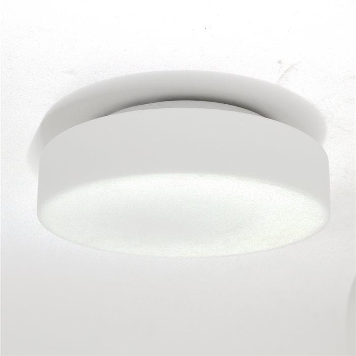 Lampenlux LED Deckenlampe Deckenleuchte Dan Glasschirm weiss E27 8W Ø:26cm Glas Schirm