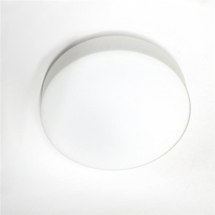 Lampenlux LED Deckenlampe Deckenleuchte Dan Glasschirm weiss E27 12W Ø:32cm Glas Schirm