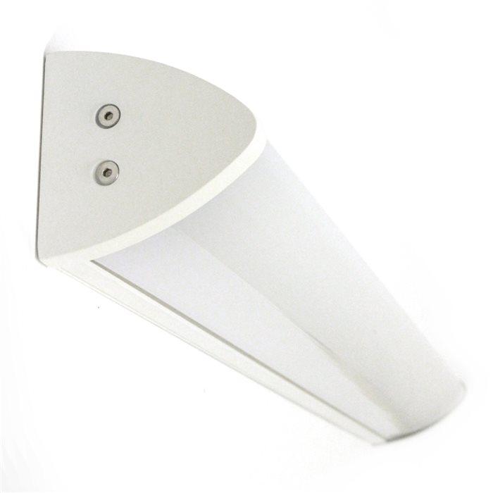 Lampenlux Wandlampe Ida Wandleuchte Badlampe Küchenlampe Küchenleuchte Spiegelleuchte Unterbauleuchte Unterbaulampe Aluminium 90cm IP44 Weiß
