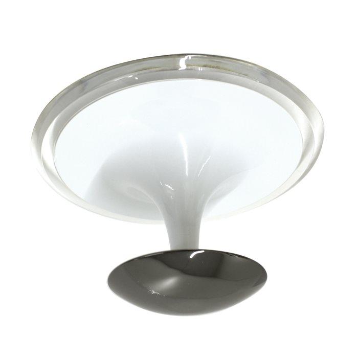 Lampenlux Deckenleuchte Deckenlampe Gino weiss/schwarz T5 22W Ø:30cm Leuchtstoffröhre