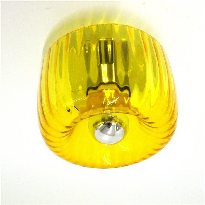 Lampenlux Wandllampe Wandleuchte Andy Effektlicht Glasschirm Amber E14