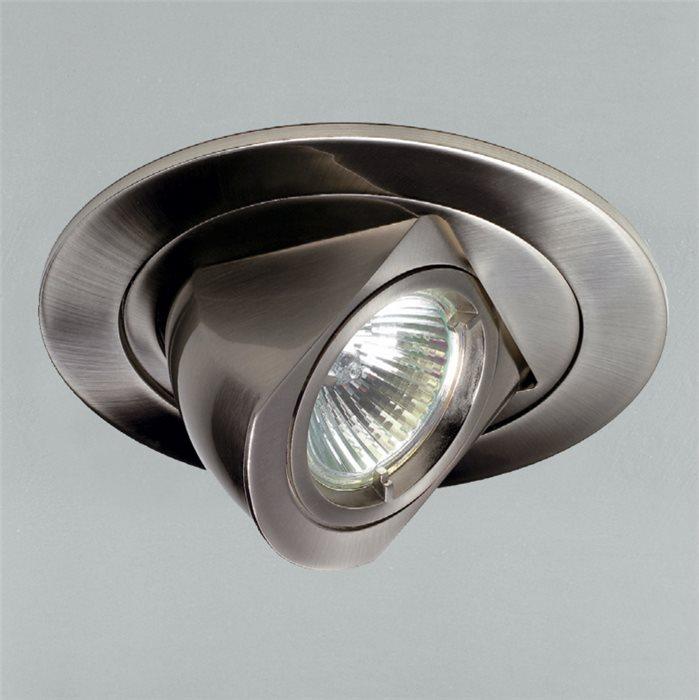 Lampenlux LED-Einbaustrahler Spot Raissa rund dreh- und 80° schwenkbar12V MR16 rostfreiEinbauleuchte Einbaulampe Einbauspot Spot Strahler Punktstrahler Aluminium Downlight Down Deckeneinbaustrahler Deckeneinbauleuchte
