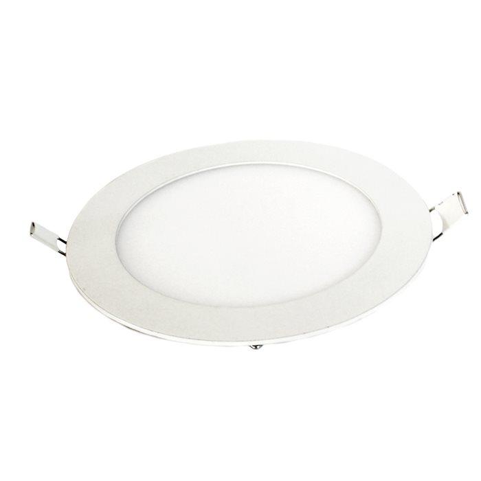 Lampenlux Ultraslim LED Panel Romina Einbaustrahler Einbauhöhe: 2cm Ø20cm Warmweiß Einbauleuchte Spot Weiß Rund
