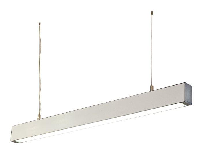 Lampenlux Pendellampe Pendelleuchte Baccio Bürolicht Silber Fassung T5 21W 28W 90 - 150cm