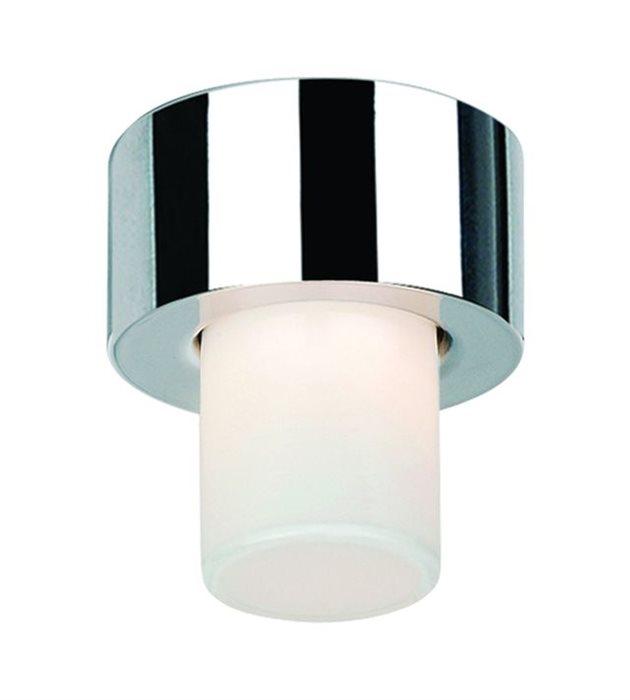 Lampenlux Deckenlampe Deckenleuchte Dandy Glasschirm nickel satiniert G9 3W Ø:10cm Glas Schirm