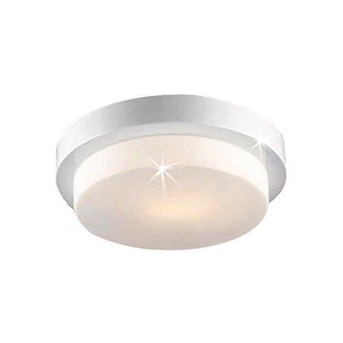 Lampenlux LED Aussenleuchte Dario IP44 230V E27 Ø35cm Deckenlampe Badlampe Rund Glas Weiß Terasse Deckenleuchte