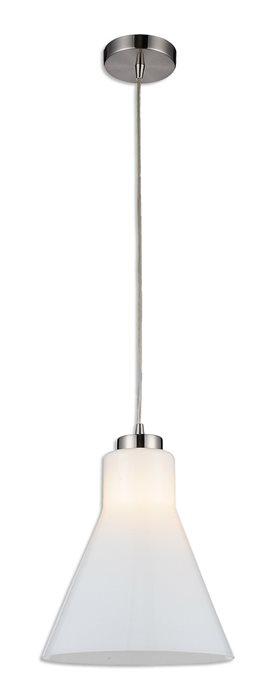 Lampenlux LED Pendellampe Pendelleuchte Bino Glasschirm Opal Weiß Fassung E14 H 14cm