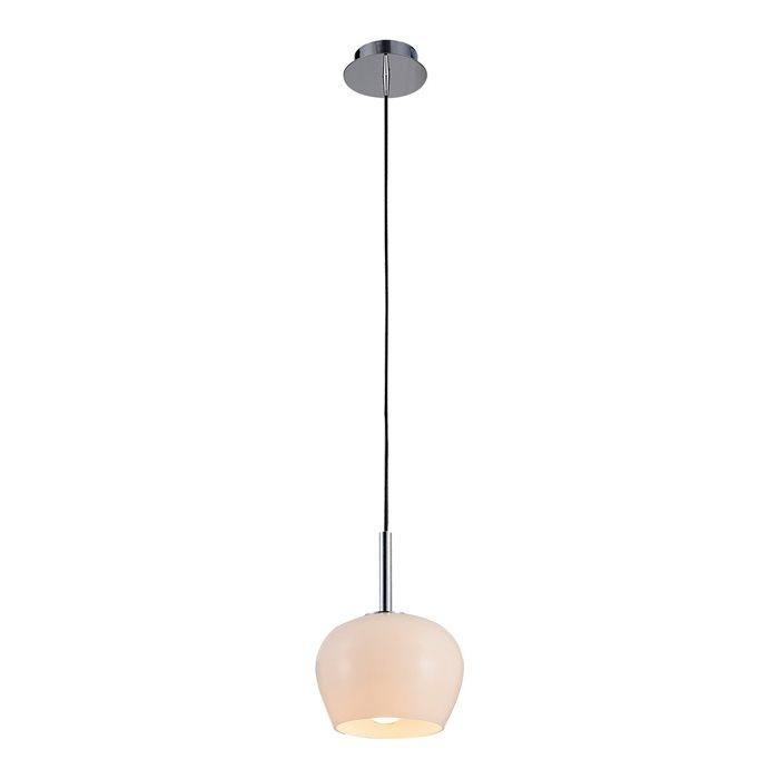 Lampenlux LED Pendellampe Pendelleuchte Bojan Glaschirm Opal Weiß Fassung E14
