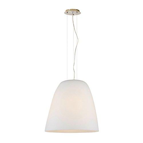 Lampenlux LED Pendelleuchte Bravo Glas Opal weiß Fassung Ø35cm Höhenverstellbar