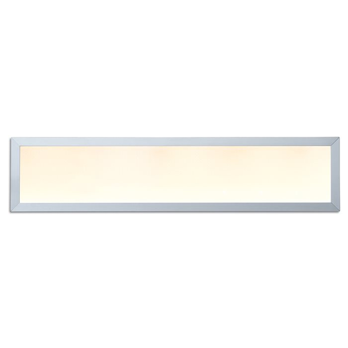 LED Panelo Einbaupanel Hago silber 18W 60x15cm warmweiss